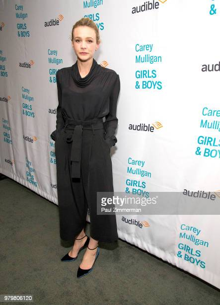 Actress Carey Mulligan attends Girls Boys Opening Night at the Minetta Lane Theatre on June 20 2018 in New York City