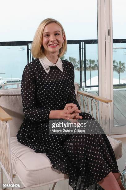 Actress Carey Mulligan attends Kering Talks Women In Motion at Majestic Barriere on May 10, 2018 in Cannes, France