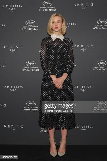Actress Carey Mulligan attends Kering Talks Women In Motion photocall at Majestic Barriere on May 10 2018 in Cannes France