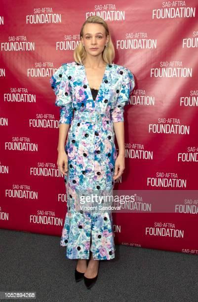 Actress Carey Mulligan attends SAGAFTRA Foundation Conversations screening of Wildlife at SAGAFTRA Foundation Screening Room on October 9 2018 in Los...