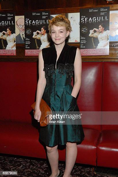 Actress Carey Mulligan attends the after party for the opening night of The Seagull on Broadway at Sardi's on October 2 2008 in New York City