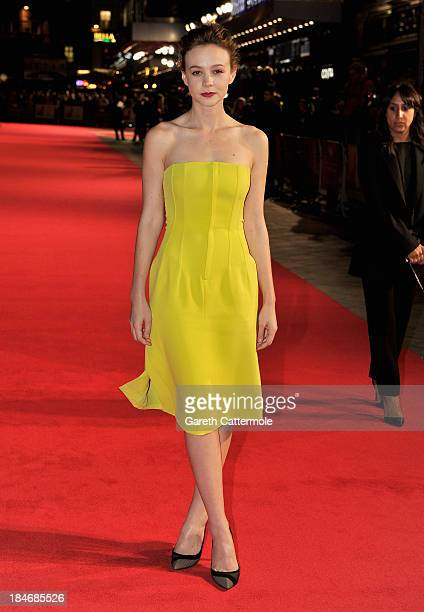 Actress Carey Mulligan attends the 'Inside Llewyn Davis' Centrepiece Gala Supported By The Mayor Of London screening during the 57th BFI London Film...