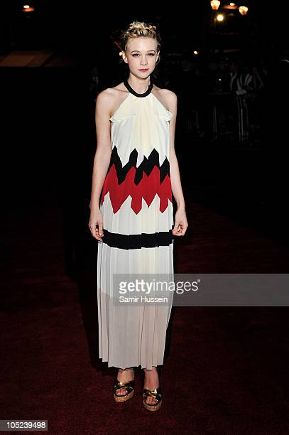 Actress Carey Mulligan attends the Never Let Me Go premiere during the opening night of the 54th BFI London Film Festival at Odeon Leicester Square...