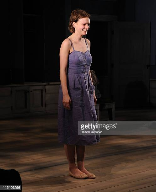 Actress Carey Mulligan attends the opening night of Through A Glass Darkly at the New York Theatre Workshop on June 6 2011 in New York City
