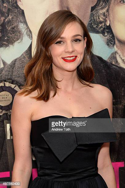 Actress Carey Mulligan attends the 'Suffragette' New York premiere at Paris Theatre on October 12 2015 in New York City