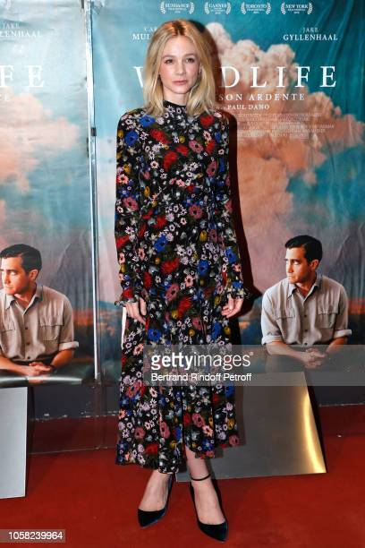 Actress Carey Mulligan attends the Wild LIfe Paris Premiere at UGC Cine Cite des Halles on November 6 2018 in Paris France