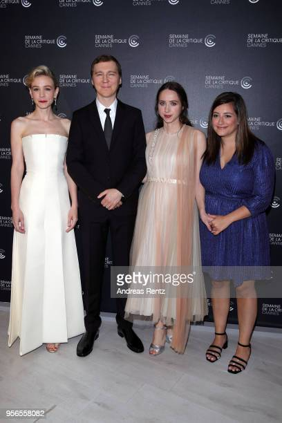 Actress Carey Mulligan Director Paul Dano and writer/executive producer Zoe Kazan attend the photocall for 'Wildlife' during the 71st annual Cannes...