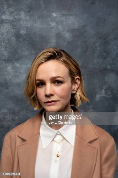 Actress Carey Mulligan from 'Promising Young Woman' is photographed in the LA Times Studio at the Sundance Film Festival on January 25 2020 in Park...