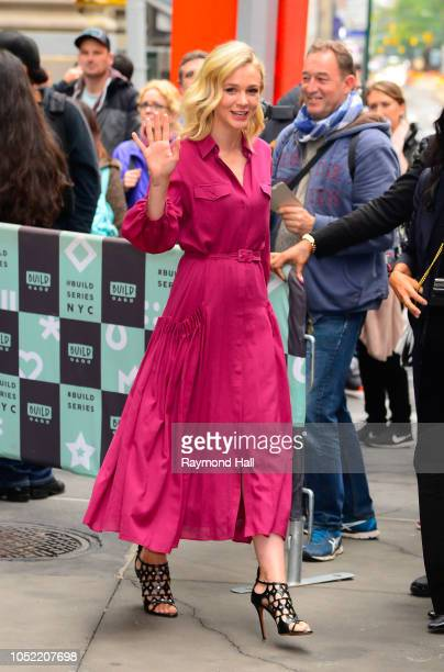 Actress Carey Mulligan is seen leaving aol live on October 15 2018 in New York City