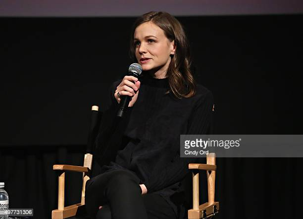 Actress Carey Mulligan speaks during The SAGAFTRA Foundation's Conversations Series Presents Carey Mulligan at NYIT Auditorium on Broadway on...