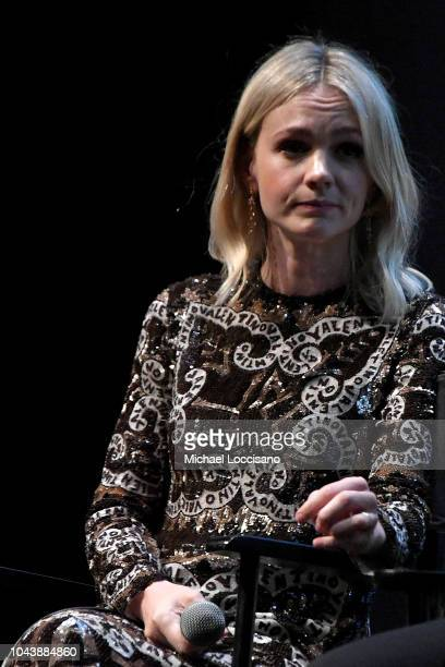 Actress Carey Mulligan takes part in a QA following the Wildlife premiere during the 56th New York Film Festival at Alice Tully Hall Lincoln Center...