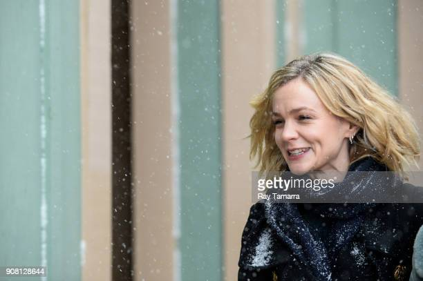 Actress Carey Mulligan walks in Park City on January 20 2018 in Park City Utah