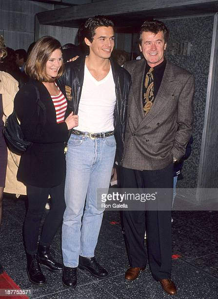 Actress Cari Shayne actor Antonio Sabato Jr and actor John Reilly attend John Beradino receives a star on the Hollywood Walk of Fame on April 1 1993...