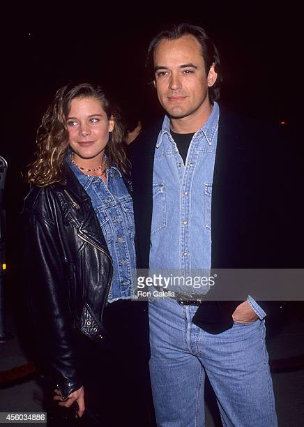 Actress Cari Shayne and actor Jon Lindstrom attends the In the Name of the Father Beverly Hills Premiere on December 20 1993 at the Samuel Goldwyn...