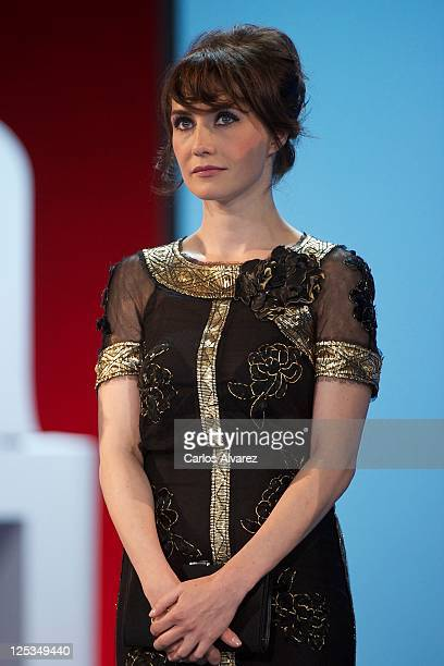 Actress Carice Van Houten attends 'Intruders' premiere at the Kursaal Palace during the 59th San Sebastian International Film Festival on September...