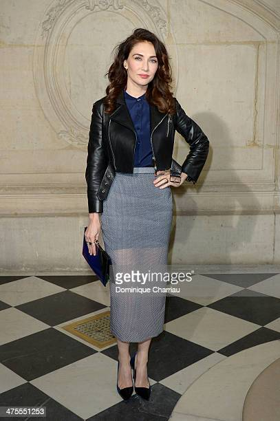 Actress Carice van Houten attends the Christian Dior show as part of the Paris Fashion Week Womenswear Fall/Winter 20142015 on February 28 2014 in...
