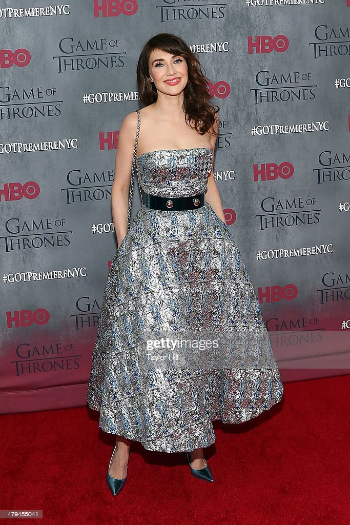Actress Carice van Houten attends the 'Game Of Thrones' Season 4 premiere at Avery Fisher Hall, Lincoln Center on March 18, 2014 in New York City.