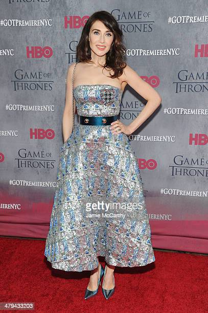 Actress Carice van Houten attends the Game Of Thrones Season 4 New York premiere at Avery Fisher Hall Lincoln Center on March 18 2014 in New York City
