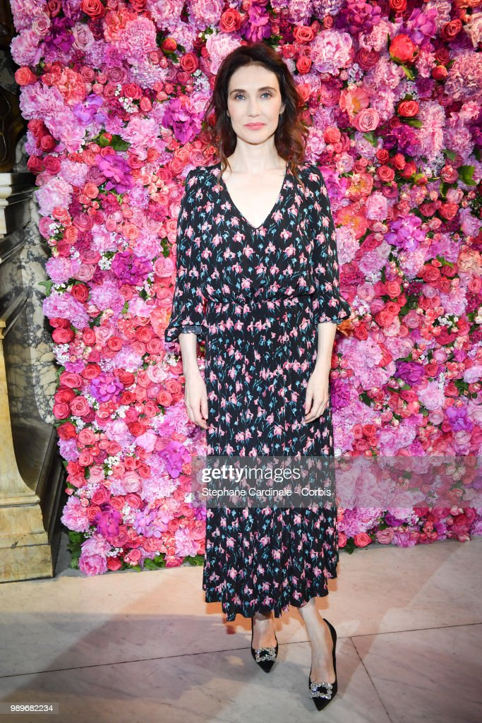 Actress Carice Van Houten attends the Schiaparelli Haute Couture Fall/Winter 2018-2019 show as part of Haute Couture Paris Fashion Week on July 2, 2018 in Paris, France.