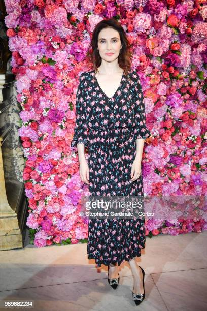 Actress Carice Van Houten attends the Schiaparelli Haute Couture Fall/Winter 20182019 show as part of Haute Couture Paris Fashion Week on July 2 2018...
