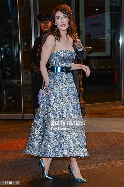 Actress Carice van Houten leaves a Midtown Manhattan hotel on March 18 2014 in New York City