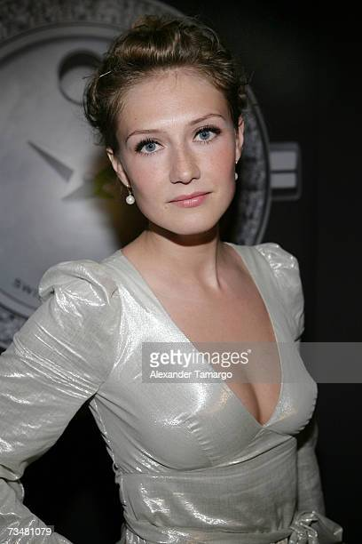 Actress Carice van Houten poses at the premiere of the movie Black Book at the Miami International Film Festival opening night gala at the Gusman...