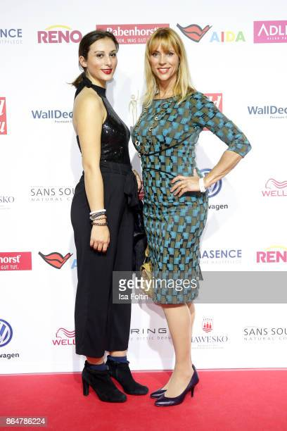 US actress Carin C Tietze and her daughter Lilly Tietze attend the 'Goldene Bild der Frau' award at Hamburg Cruise Center on October 21 2017 in...