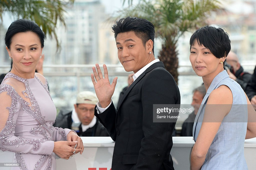 Actress Carina Lau, actor Kun Chen and director Flora Lau attend 'Bends' Photocall during the 66th Annual Cannes Film Festival at Palais des Festivals on May 18, 2013 in Cannes, France.