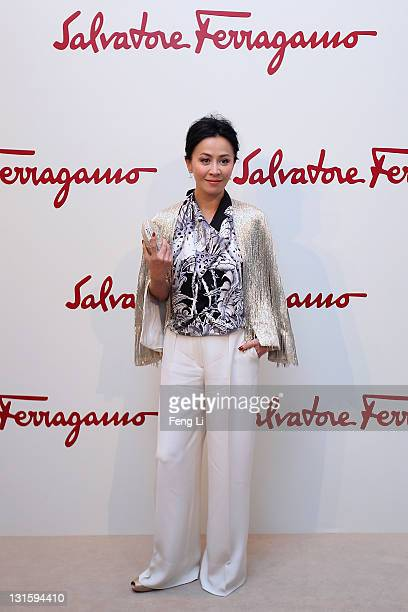 Actress Carina Lau arrives at the Salvatore Ferragamo Spring Summer show at the Ullens Centre for Contemporary Art on November 5 2011 in Beijing China