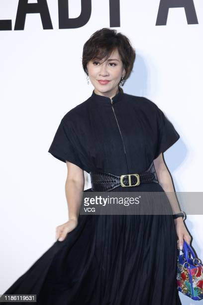 Actress Carina Lau attends Dior Lady Art 4 event at Shanghai Exhibition Center on November 7 2019 in Shanghai China