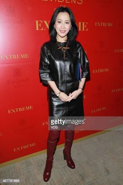 Actress Carina Lau attends Evidens de Beaute promotional event at The Landmark on December 18 2013 in Hong Kong Hong Kong