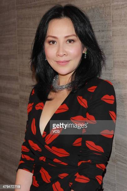 Actress Carina Lau attends the Century Sakura event on March 18 2014 in Shenzhen Guangdong Province of China