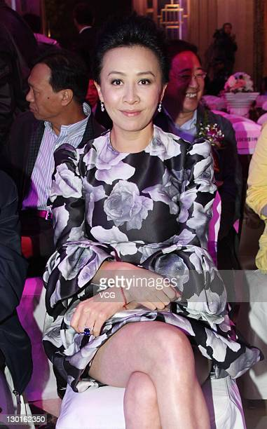 Actress Carina Lau attends Tianjin Wanda Mansion opening ceremony on October 23 2011 in Tianjin China