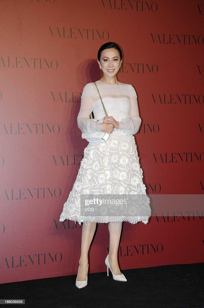 Actress Carina Lau attends Valentino Fashion Show at Shanghai Port International Cruise Terminal on November 14, 2013 in Shanghai, China.