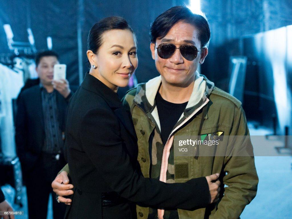 Actress Carina Lau Kar-ling and her husband actor Tony Leung Chiu-wai attend ANIRAC collection by Carina Lau during the Shanghai Fashion Week Autumn/Winter 2017 at Xintiandi on April 10, 2017 in Shanghai, China.