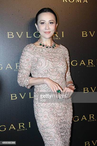 Actress Carina Lau promotes Bvlgari on September 22 2015 in Beijing China