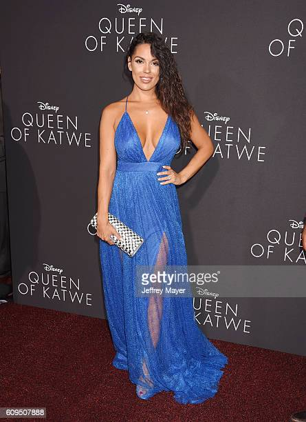 Actress Carissa Rosario attends the premiere of Disney's 'Queen Of Katwe' at the El Capitan Theatre on September 20, 2016 in Hollywood, California.
