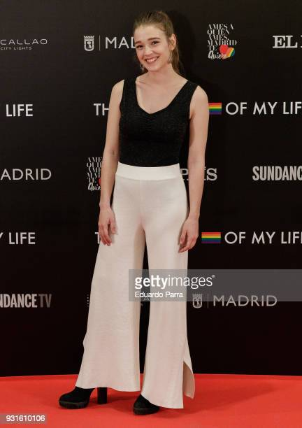 Actress Carla Campra attends the 'The Best Day of My Life' premiere at Callao cinema on March 13 2018 in Madrid Spain