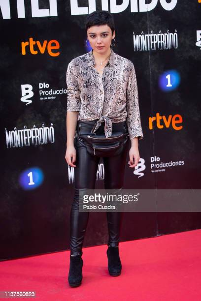 Actress Carla Diaz attends the 'La Caza Monteperdido' photocall on March 22 2019 in Madrid Spain