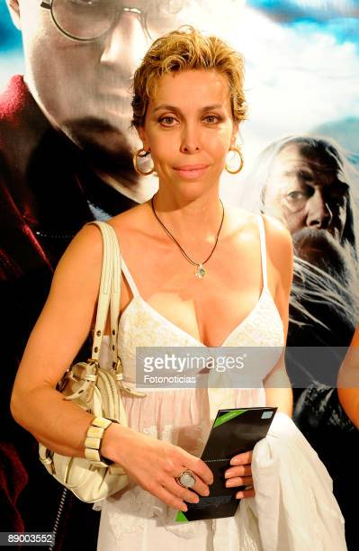 Actress Carla Duval arrives at the Harry Potter And The HalfBlood Prince premiere at Proyecciones Cinema on July 13 2009 in Madrid Spain
