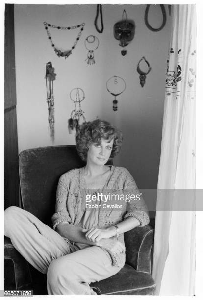Actress Carla Gravina at home in Rome.