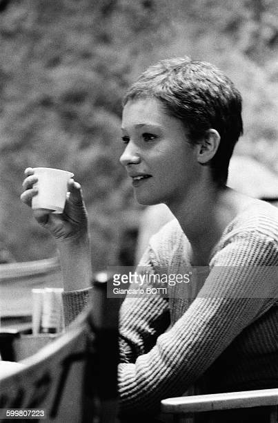 Actress Carla Gravina During The Shooting Of The Movie '5 Branded Women' Directed By Martin Ritt In Italy, In 1959 .