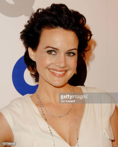 """Actress Carla Gugino arrives at GQ Celebrates 2007 """"Men Of The Year"""" at the Chateau Marmont Hotel on December 5, 2007 in Hollywood, California."""