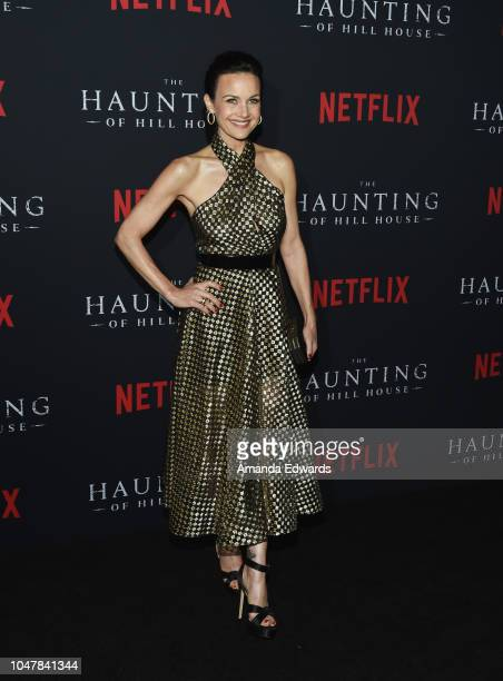 Actress Carla Gugino arrives at Netflix's The Haunting Of Hill House Season 1 Premiere at ArcLight Hollywood on October 8 2018 in Hollywood California