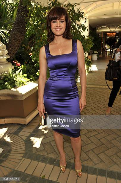 Actress Carla Gugino arrives at The Hollywood Foreign Press Association Annual Installation Luncheon held at The Four Seasons Hotel on July 28, 2010...