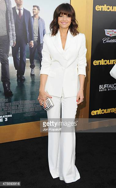 Actress Carla Gugino arrives at the Los Angeles Premiere 'Entourage' at Regency Village Theatre on June 1 2015 in Westwood California