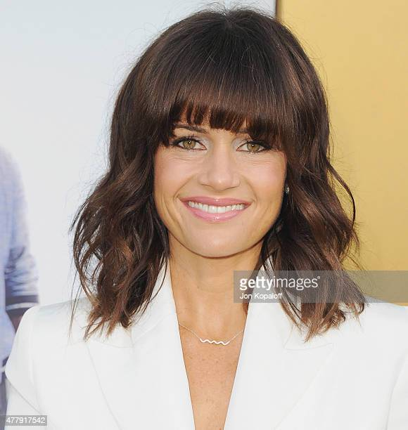 """Actress Carla Gugino arrives at the Los Angeles Premiere """"Entourage"""" at Regency Village Theatre on June 1, 2015 in Westwood, California."""