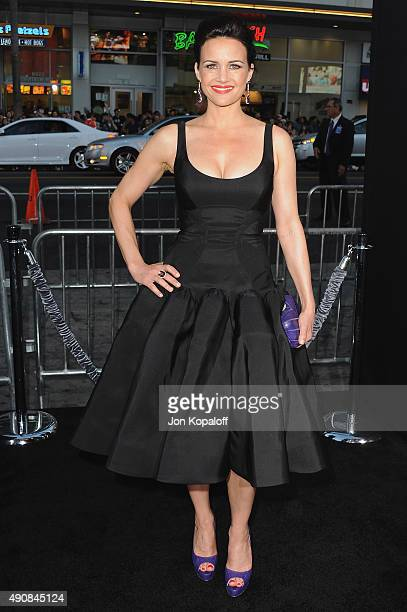 "Actress Carla Gugino arrives at the Los Angeles Premiere ""Hercules"" at TCL Chinese Theatre on July 23, 2014 in Hollywood, California."