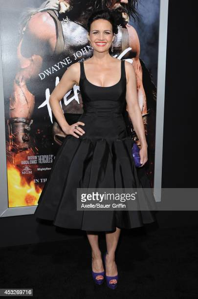 Actress Carla Gugino arrives at the Los Angeles Premiere of 'Hercules' at TCL Chinese Theatre on July 23, 2014 in Hollywood, California.