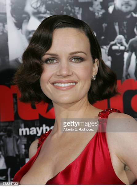 Actress Carla Gugino arrives at the premiere of the HBO original series ENTOURAGE on April 05 2007 in Los Angeles California